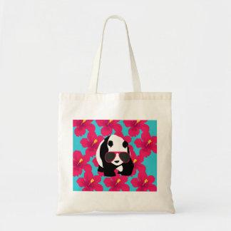 Funny Panda Bear Beach Bum Cool Sunglasses Tropics Tote Bag
