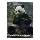 Funny Panda Birthday Card, Eat Cake, not bamboo! Greeting Card