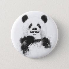 Funny Panda Button at Zazzle