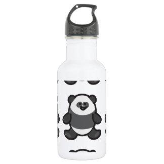 Funny Panda on White Water Bottle
