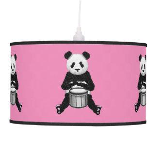 Funny Panda Playing Drums Pendant Lamp