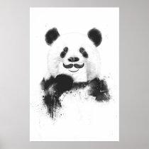 Funny panda poster