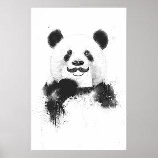 Funny Panda Poster at Zazzle