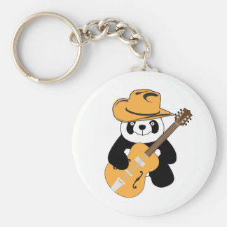 Funny panda with guitar keychain