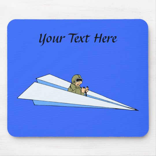 Funny Paper Airplane Pilot Mouse Pad