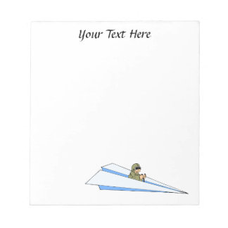 Funny Paper Airplane Pilot Notepad