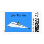 Funny Paper Airplane Pilot Postage Stamps