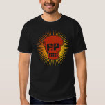 Funny Papers Fiery Skull Logo T-shirt