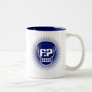 Funny Papers Skull Logo Mug in Blue