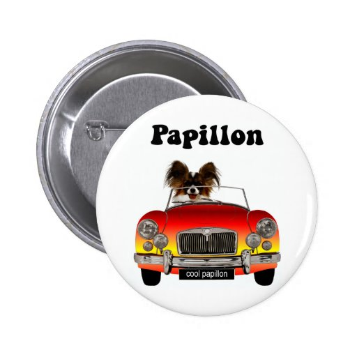 Funny Papillon 2 Inch Round Button