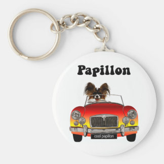 Funny Papillon Keychains