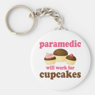 Funny Paramedic Basic Round Button Keychain