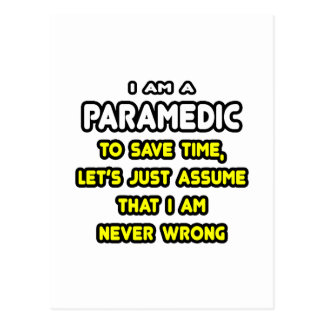Funny Paramedic T-Shirts and Gifts Postcards