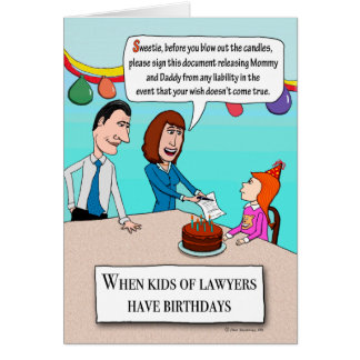 Funny Parents Are Lawyers Birthday Card