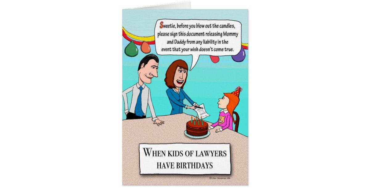 Funny Parents Are Lawyers Birthday Card Zazzle Com