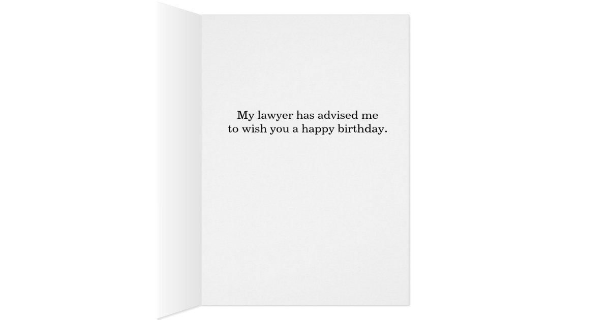 Funny Parents Are Lawyers Birthday Card – Lawyer Birthday Card