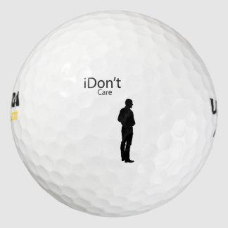 Funny Parody I don't (iDon't) Care Golf Balls