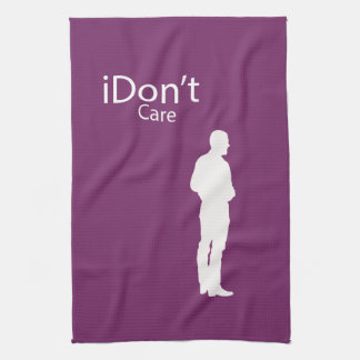 Funny Parody I don't (iDon't) Care Kitchen Towel