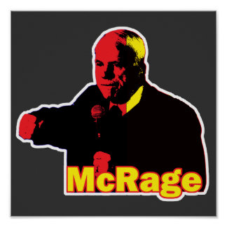 Funny Parody McCain McRage Temper Print