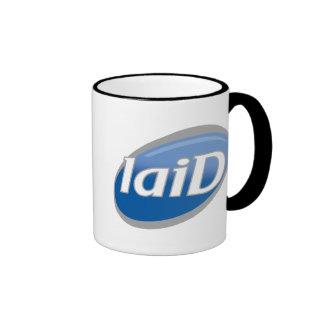 "Funny Parody of Famous Soap Logo - ""laiD"" Ringer Mug"