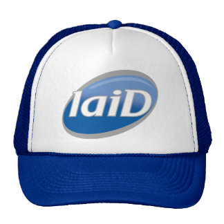 """Funny Parody of Famous Soap Logo - """"laiD"""" Trucker Hat"""