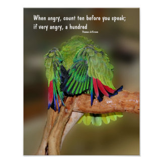 Funny Parrot Anger Quote Inspirational Poster