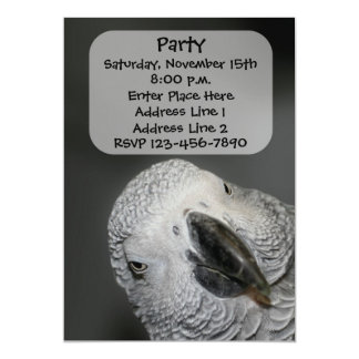 Funny Parrot Face Animal Invitation
