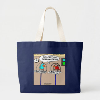 Funny Parrots Bathroom Fixtures Gifts & Tees Large Tote Bag
