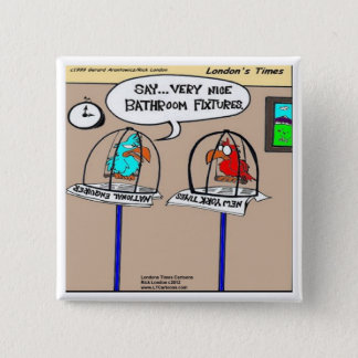 Funny Parrots Bathroom Fixtures Gifts & Tees Pinback Button