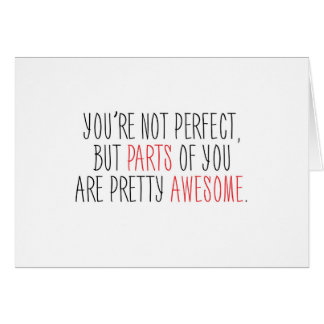Funny Parts of You Are Awesome Card