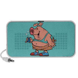 funny party animal pig hog cartoon mp3 speaker
