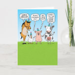 🤣 Funny Party Animals Birthday Advice Card