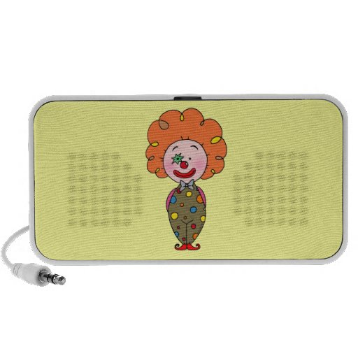 Funny party clown with orange hair mp3 speaker
