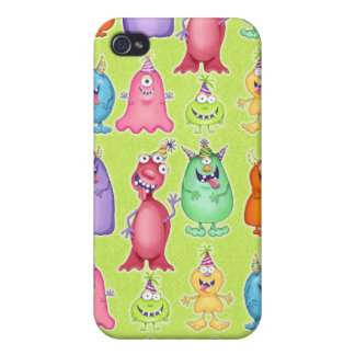 Funny Party Monsters iPhone 4 Cases