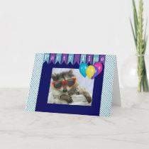 Funny Party Raccoon Birthday Card
