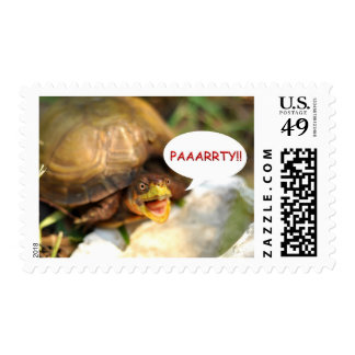 Funny Party Turtle Postage