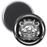 Funny Pastry Chef Skulls: The Sweet Life 2 Inch Round Magnet