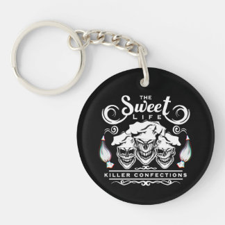 Funny Pastry Chef Skulls: The Sweet Life Keychain