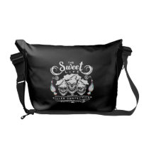 Funny Pastry Chef Skulls: The Sweet Life Messenger Bag