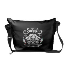 Funny Pastry Chef Skulls: The Sweet Life Messenger Bag at Zazzle