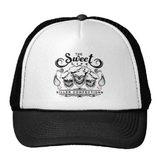 Funny Pastry Chef Skulls: The Sweet Life Trucker Hat