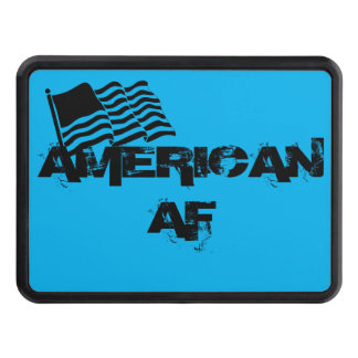 Funny Patriotic American AF Flag Hitch Cover
