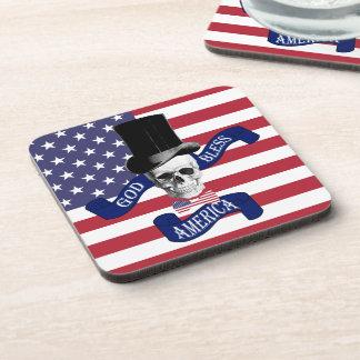 Funny patriotic American Coaster