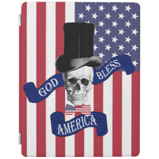 Funny patriotic American flag iPad Cover