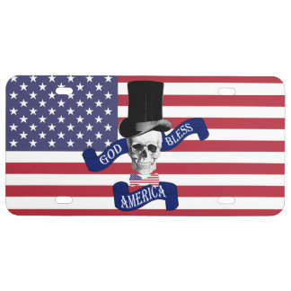 Funny patriotic American License Plate