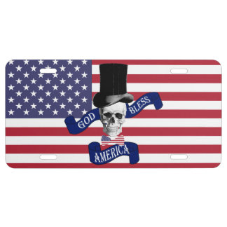 Funny patriotic American License Plate
