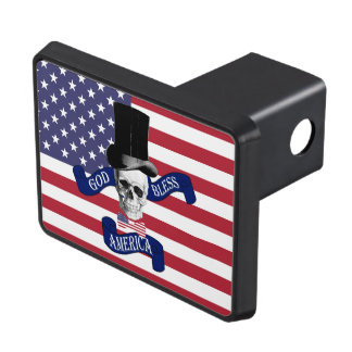 Funny patriotic American Trailer Hitch Covers
