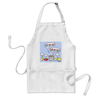 Funny Patriotic Cheese Food Cartoon Apron