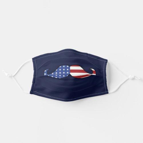 Funny Patriotic Mustache Cloth Face Mask