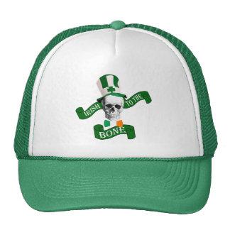 Funny patriotic skeleton St Patrick's day Mesh Hat